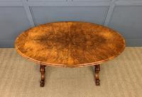 Victorian Burr Walnut Stretcher Table (10 of 13)