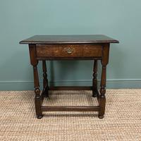 Country Georgian Oak Antique Lowboy / Side Table
