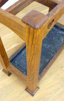 Excellent Arts & Crafts Oak Stick Stand c.1910 (4 of 11)