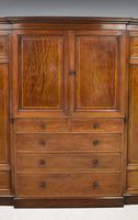 19th Century Mahogany Breakfront Wardrobe (3 of 12)