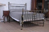 Magnificent King Size Victorian Brass & Iron Bed