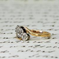 The Vintage Rosy Illusion Trio Diamond Ring (2 of 5)