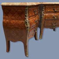 Pair of Italian Parquetry Bedside Commodes (3 of 8)