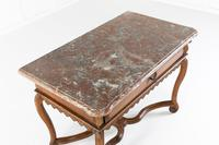 Early 18th Century Belgian Oak Side Table with Marble Top (6 of 17)
