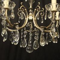Italian 5 Light Silver Gilded Chandelier (6 of 10)