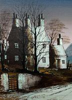 Ronald Folland Original Signed Winter Hamlet Landscape Oil Painting (6 of 12)