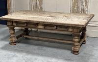 Rustic French Bleached Oak Coffee Table with 2 Drawers (5 of 19)