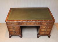 Large Mahogany Pedestal Desk (10 of 12)