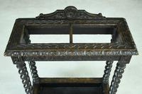 Victorian Carved Oak Stick Stand (6 of 10)