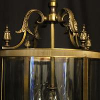 French Gilded Four Light Convex Hall Lantern (3 of 10)