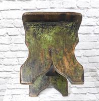 Large Rustic Bench Stool, Original Paint (5 of 6)