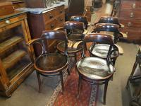 Set of Six Antique Bentwood Café / Bistro  Armchairs