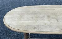 French Bleached Oak Farmhouse Refectory Dining Table (13 of 18)