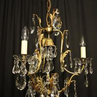 French Gilded Birdcage Antique Chandelier (7 of 7)