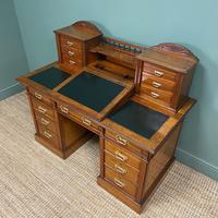High Quality Maple & Co Antique Victorian Pedestal Desk (3 of 11)