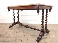 Antique Walnut Table with Barley Twist Legs (6 of 10)
