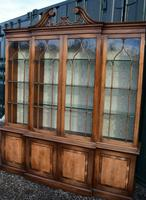 Quality Titchmarsh & Goodwin Breakfront Display Cabinet Bookcase