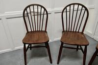 4 High Windsor Beech & Elm Hoop Back Windsor Chairs (3 of 5)