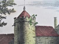 S & N Buck, Tiverton Castle, Devon, 1734, Early Copy Of Antique Print, Framed (2 of 7)
