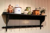 French Painted Wall Shelves With Coat Hooks (2 of 9)