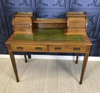 Victorian Inlaid Mahogany Writing Desk (4 of 20)