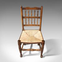 Set of 12, Antique Lancashire Chairs, Beech, Spindle Back, Seat, Edwardian, 1910 (8 of 12)