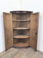 Georgian Oak Bow Front Corner Cupboard (2 of 10)