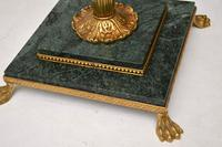 Antique Italian Gilt Metal & Marble Floor Lamp (6 of 6)