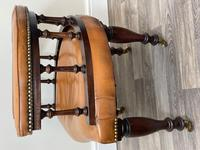 Charming Traditional Victorian Style Tan Brown Office Captains Bankers Chair (25 of 42)