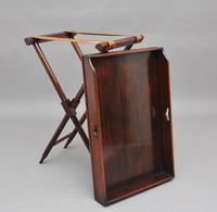 19th Century Mahogany Butlers Tray on Stand (7 of 10)