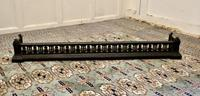 Victorian Arts & Crafts Cast Iron Fender Decorated with Flowers