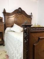 Antique French Stunning Huge Oak Bed Frame & Pot Cupboard (14 of 16)