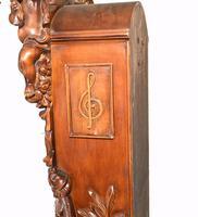 Carved Italian Grandfather Clock Walnut Cherubs (14 of 16)
