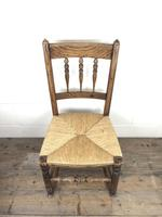 Antique Ash & Elm Rocking Chair with Rush Seat (6 of 12)