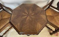Antique Breton Side Table with Rush Seats (6 of 15)