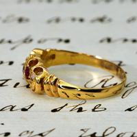 The Edwardian 1902 Scroll Gallery Ruby & Diamond Ring (3 of 4)