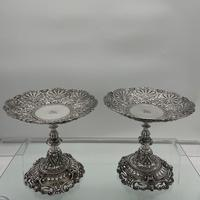 Mid 19th Century Antique Victorian Sterling Silver Suite Comports London 1862 Robert Garrard (8 of 12)