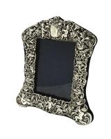 "Antique Edwardian Sterling Silver 8"" Photo Frame 1903 (11 of 11)"
