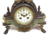 Incredible Art Nouveau Dancing Figural Mantel Clock 8 Day Striking Mantle (3 of 11)