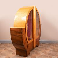Walnut and Maple Art Deco Display Cabinet (4 of 9)