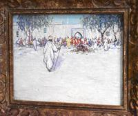 North African market scene oil painting (2 of 9)