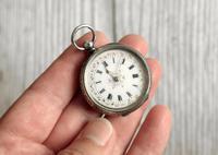 Antique Swiss Silver Women's Pocket Watch, Fancy Case, Fully Hallmarked c.1900 (5 of 10)