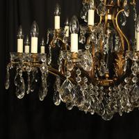 Italian Gilt & Crystal 22 Light Antique Chandelier (3 of 10)