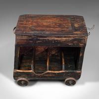 Antique Industrial Machinist's Truck, English, Trolley, Kitchen, Wine, Victorian (8 of 12)