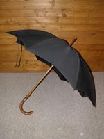 Vintage Hallmarked Silver 1930 Walking Length Umbrella by Brigg, London (SWAINE ADENEY) (9 of 14)
