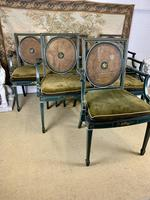Fabulous Set of 6 Green Painted Armchairs (2 of 12)
