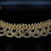 Vintage Aesthetic Gold on Sterling Silver Heavy Fancy Swag Collar Necklace (6 of 7)