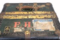 Vintage Steamer Trunk Luggage Case Harrison and  Co New York (4 of 28)