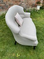 French Two Seater Sofa in Linen (5 of 8)