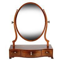 Georgian Serpentine Dressing Mirror (3 of 8)